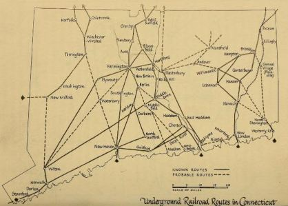 What's in your backyard? Explore more of this map in Horatio Strother's Underground Railroad in Connecticut
