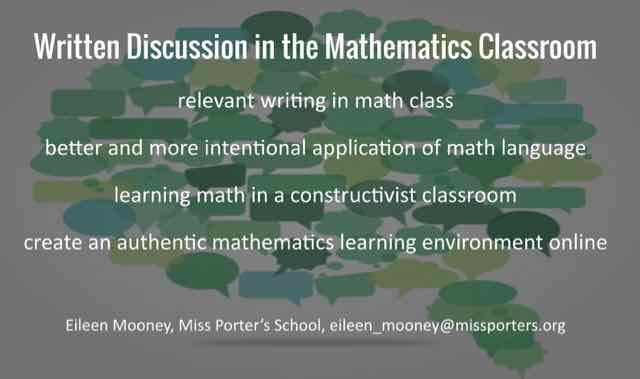 Written Mathematics Discussion in a Blended Classroom